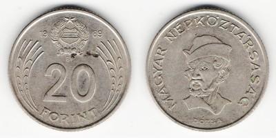 20 forint 1989
