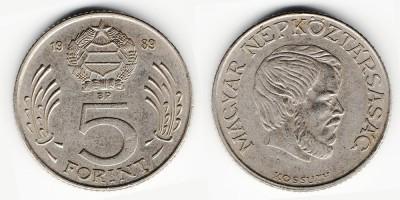 5 forint 1989
