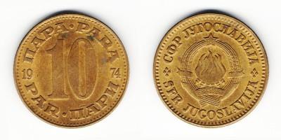 10 para 1974
