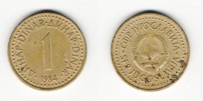 1 динар 1984 года