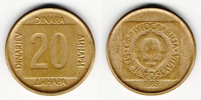 20 динаров 1989 года