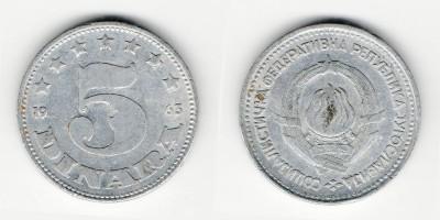 5 dinara 1963