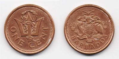 1 цент 2001 года
