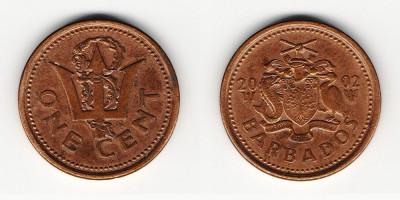 1 цент 2002 года