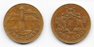 5 центов 1973 года