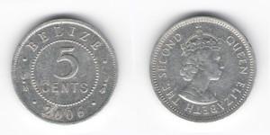 5 центов 2006 года Белиз