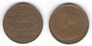 1 цент 1936 года