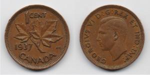 1 цент 1937 года