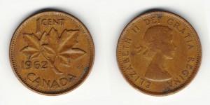 1 цент 1962 года