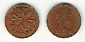 1 цент 1974 года