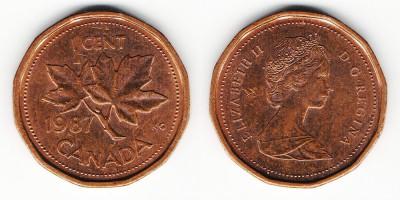 1 cent 1987