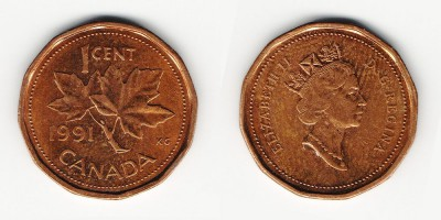 1 cent 1991
