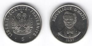 5 сантимов 1997 года Гаити
