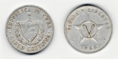 5 centavos 1966