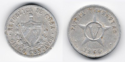 5 centavos 1968