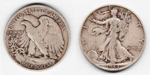 1/2 доллара 1944 года  S