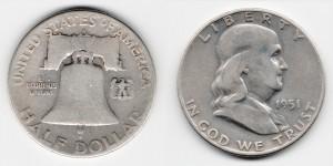 1/2 доллара 1951 года