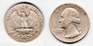 1/4 доллара 1942 года