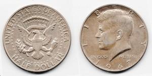 1/2 доллара 1967 года