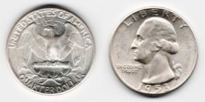 1/4 доллара 1953 года