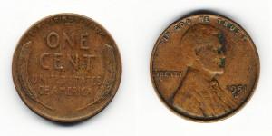 1 цент 1951 года