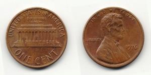 1 цент 1976 года