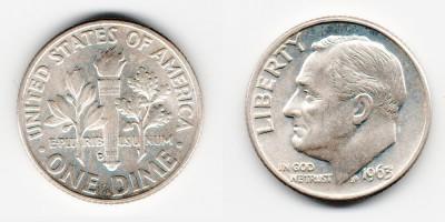 1 дайм 1963 года D