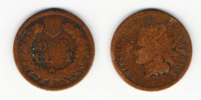 1 цент 1867 года