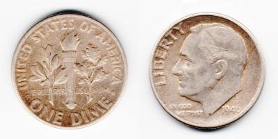 1 дайм 1946 года D