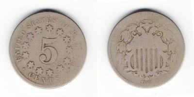 5 центов 1868 года