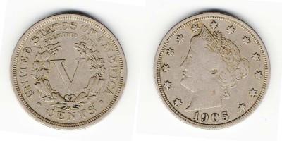 5 центов 1905 года