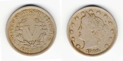 5 центов 1908 года