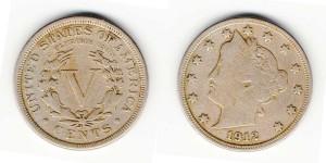 5 центов 1912 года