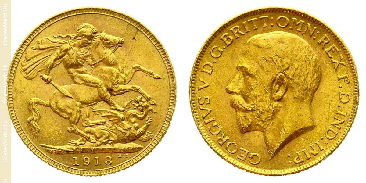 1sovereign 1918, India - British