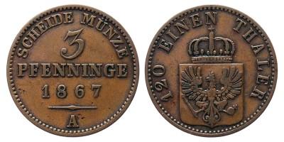 3pfennig 1867 A