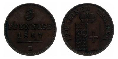 3pfennig 1867
