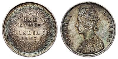 1rupee 1887