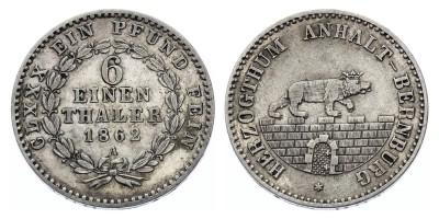 1/6Táler 1862