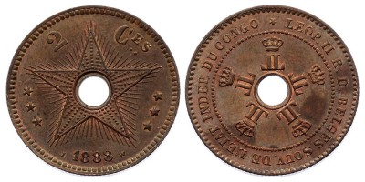 2 centimes 1888