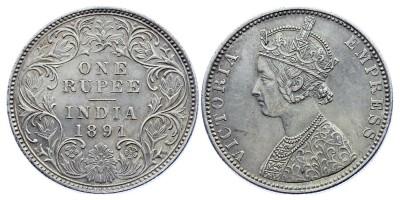 1rupee 1891 B
