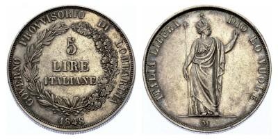 5lire 1848