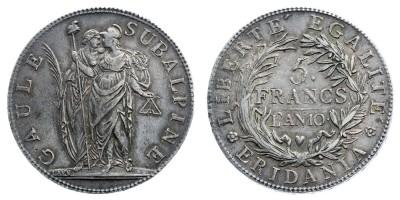 5francs 1801