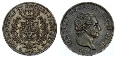 5lire 1830 P