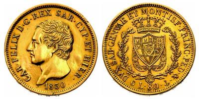 80lire 1830 P