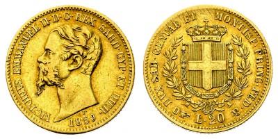 20lire 1859 B