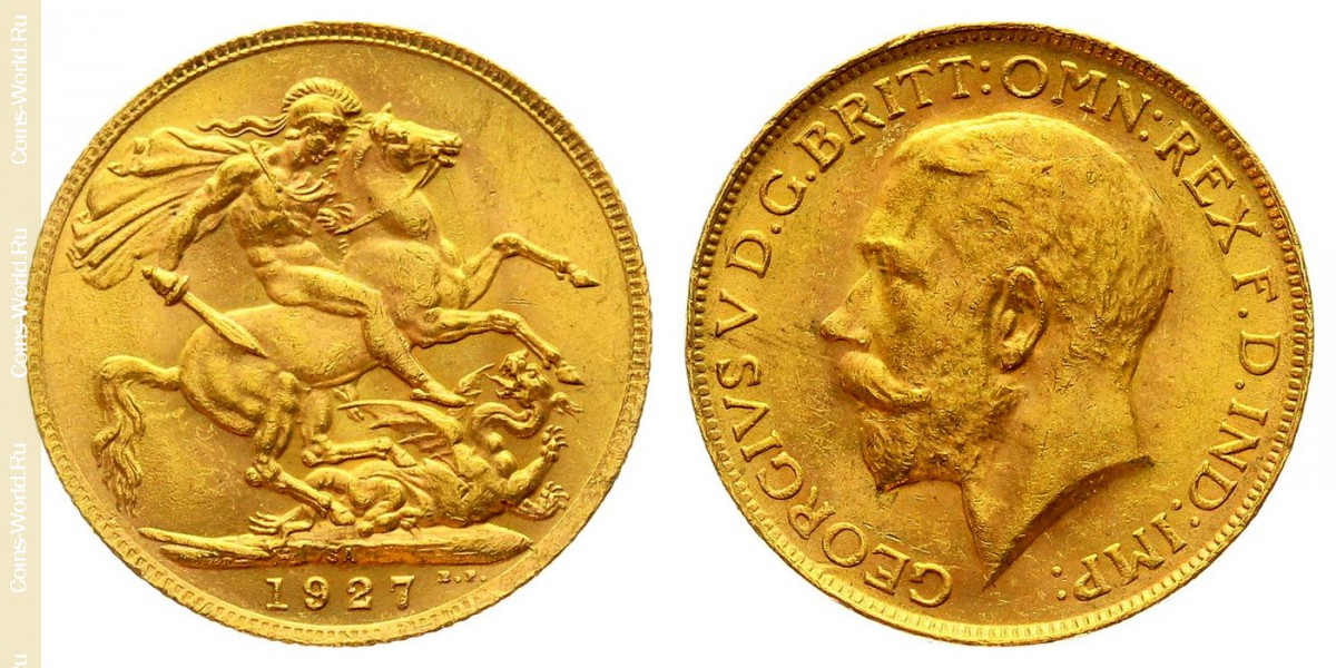 1 sovereign 1927, South Africa