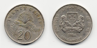 20 cents 1986