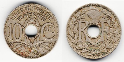 10 centimes 1935
