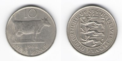 10 New Pence 1968