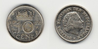 10 cents 1972